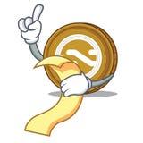 With menu Nxt coin mascot cartoon. Vector illustration Royalty Free Stock Photography