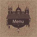 Menu from the old town Royalty Free Stock Images