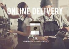 Menu Online Delivery Coffee Shop Concept Royalty Free Stock Photos