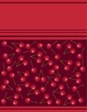 Menu op rode kers als achtergrond Stock Foto's