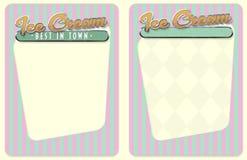 Menu ou invitation de crème glacée  Photographie stock libre de droits