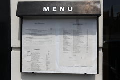 Menu outside Stock Image
