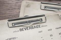 menu paper Stock Images