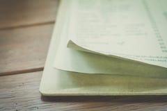menu paper card Stock Images