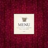 Menu para o restaurante, café, barra, coffeehouse Fotografia de Stock