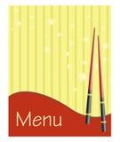 Menu para o sushi e os rolos ilustração stock
