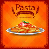 Menu pasta fresh italian Stock Images