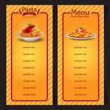 Menu pasta Stock Images