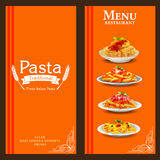 Menu pasta vintage orange Stock Images