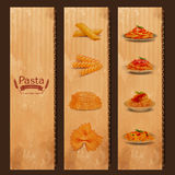 Menu pasta vintage Stock Photos
