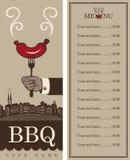 Menu per il barbecue Fotografie Stock Libere da Diritti