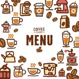 Menu per il caffè e la caffetteria Fotografie Stock Libere da Diritti