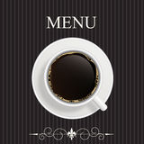 Menu per il ristorante, caffè, barra Immagine Stock