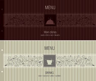 Menu per il ristorante, caffè, barra, coffeehouse Fotografia Stock