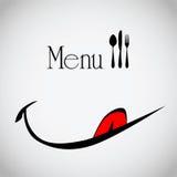 Menu per il sorriso del ristorante Fotografie Stock