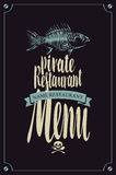 Menu pirate restaurants Stock Images