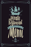 Menu pirate restaurants Stock Image