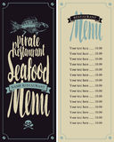 Menu pirate restaurants Royalty Free Stock Photos