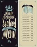 Menu pirate restaurants Stock Photos