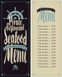 Menu pirate restaurants Stock Photography