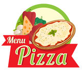 Menu pizza Obrazy Stock