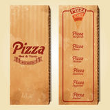 Menu pizza carton Stock Photography