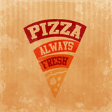 Menu pizza carton always fresh Royalty Free Stock Images