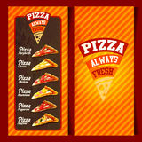 Menu pizza frame vintage Royalty Free Stock Images