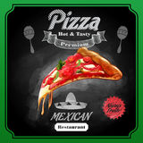 Menu pizza mexican Royalty Free Stock Images