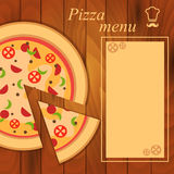 Menu for pizza template Stock Photo