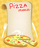 Menu for pizza Royalty Free Stock Photos