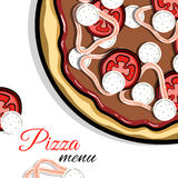 Menu For Pizzeria 3 Stock Photography