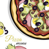 Menu For Pizzeria 4 Royalty Free Stock Images