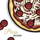 Menu For Pizzeria Royalty Free Stock Photo
