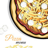 Menu For Pizzeria 6 Royalty Free Stock Images