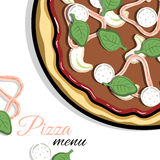 Menu For Pizzeria 2 Stock Photography