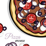 Menu For Pizzeria 5 Stock Photography
