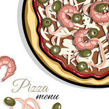 Menu For Pizzeria 1 Stock Photos