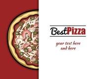 Menu For Pizzeria 1 Royalty Free Stock Photos