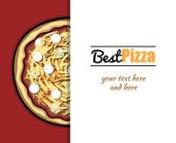 Menu For Pizzeria 7 Stock Image
