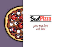 Menu For Pizzeria 6 Stock Image