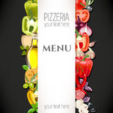 Menu for pizzeria Royalty Free Stock Photography