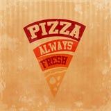 Menu pizzy karton zawsze świeży Ilustracji