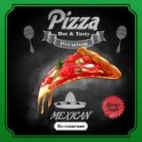 Menu pizzy meksykanin Ilustracji