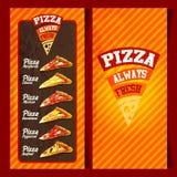Menu pizzy ramy rocznik Ilustracja Wektor