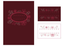 Menu and place card. Design Stock Images
