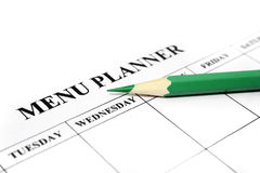 Menu planner Stock Photography