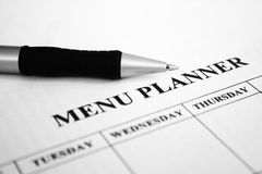 Menu planner Royalty Free Stock Image