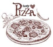 Menu pour la pizzeria illustration libre de droits