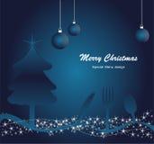Menu pour Noël Images stock
